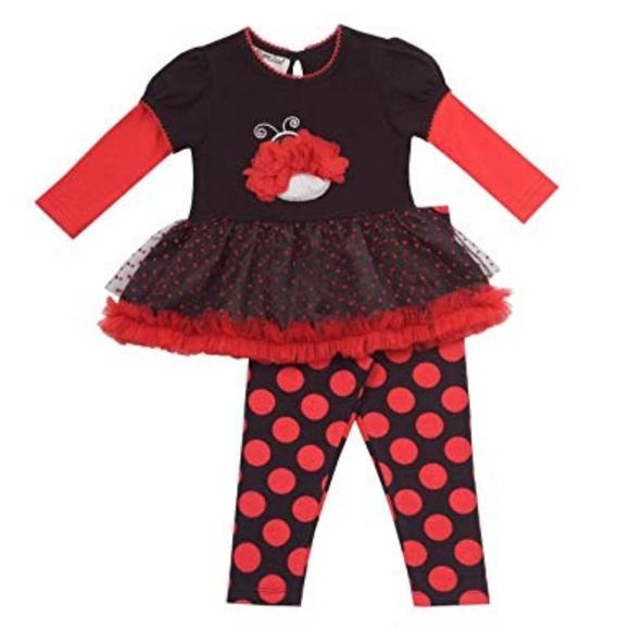 Rare Editions Other - Rare Editions Baby Ladybug Tutu Dress Legging Set